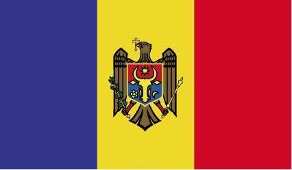 "Aufkleber ""Moldawien Flagge"" 100x60"
