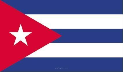 """Aufkleber """"Kuba Flagge"""" 150x90"""