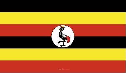"Aufkleber ""Uganda Flagge"" 100x60"