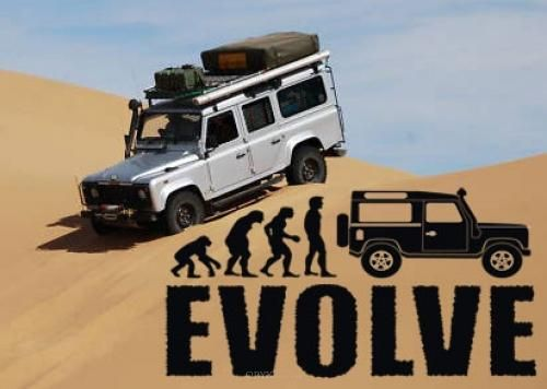 Aufkleber Evolution Defender Version 1 braun