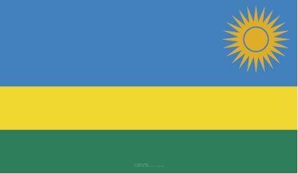 "Aufkleber ""Ruanda Flagge"" 100x60"