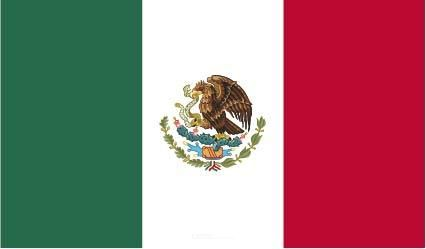 """Aufkleber """"Mexiko Flagge"""" 100x60"""