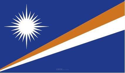 "Aufkleber ""Marshallinseln Flagge"" 100x60"