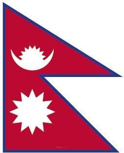 "Aufkleber ""Nepal Flagge"" 60x70"