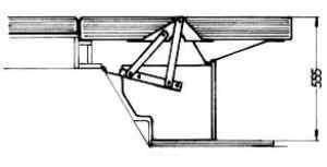 Sitzbankbeschläge mit Anhebung passend für VW Bus T3