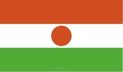 "Aufkleber ""Niger Flagge"" 100x60"