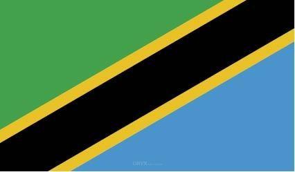 """Aufkleber """"Tansania Flagge"""" 100x60"""