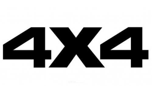 "Aufkleber ""4x4"" Version 1 groß braun"
