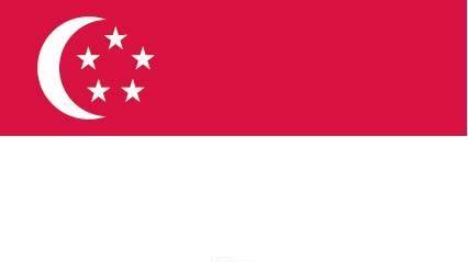 "Aufkleber ""Singapur Flagge"" 100x60"
