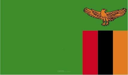 "Aufkleber ""Sambia Flagge"" 100x60"
