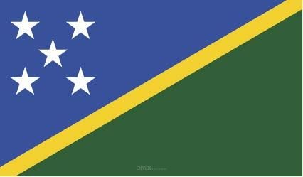 "Aufkleber ""Salomonen Flagge"" 100x60"