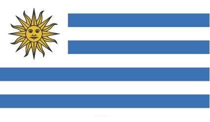 "Aufkleber ""Uruguay Flagge"" 100x60"