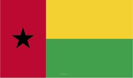 "Aufkleber ""Guinea-Bissau Flagge"" 100x60"