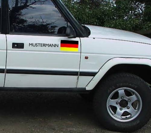 """Aufkleber """"Deutschland-Fahne"""" Version 2"""