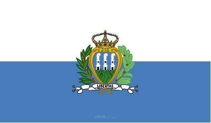 "Aufkleber ""San Marinos Flagge"" 100x60"