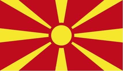 """Aufkleber """"Mazedonien Flagge"""" 100x60"""