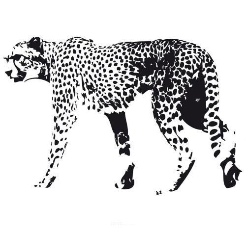 "Aufkleber ""Gepard"" schwarz, 200x150"