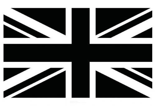 """Aufkleber """"Union Jack"""" Version 1 schwarz, 100x50"""