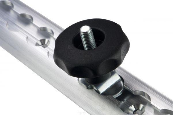 M8 Schraub Fitting mit Sterngriff, 0-29mm, für Airlineschiene
