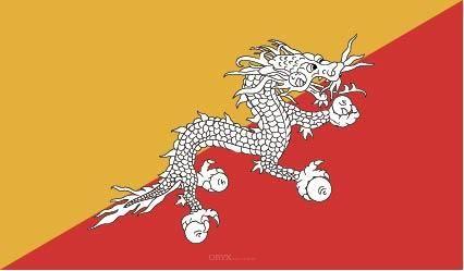 "Aufkleber ""Bhutan Flagge"" 100x60"